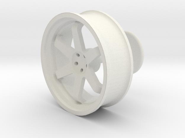 TE37 Wheel Cufflink in White Natural Versatile Plastic