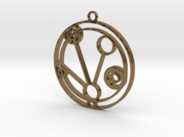 Mackenzie - Necklace in Polished Bronze