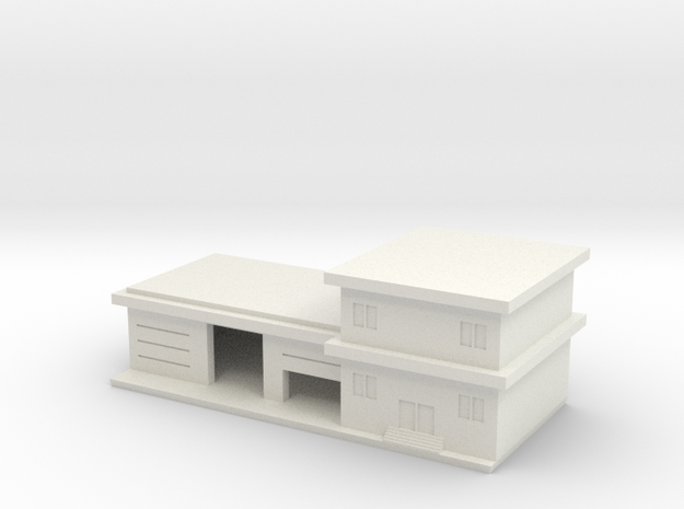 1/600 Fire Station in White Natural Versatile Plastic