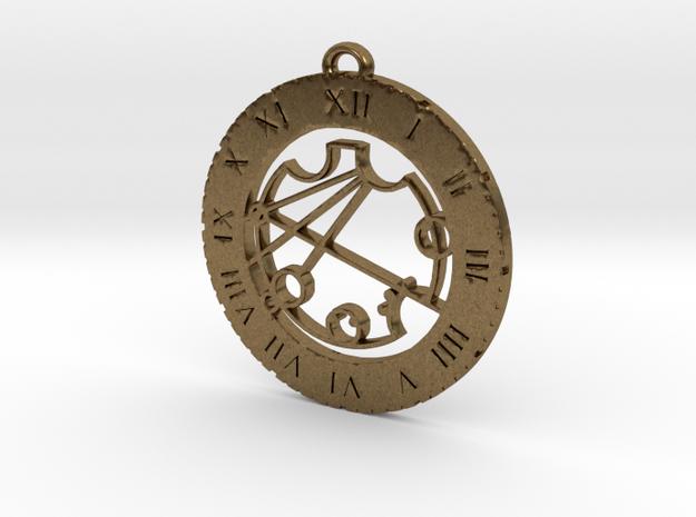 Krystina - Pendant in Raw Bronze