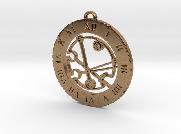 Kiraleigh - Pendant in Raw Brass