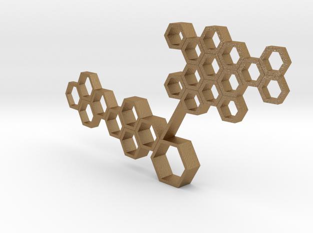 Honeycomb 02 in Matte Gold Steel