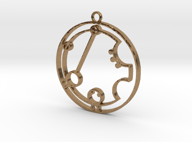 Katriena - Necklace in Natural Brass