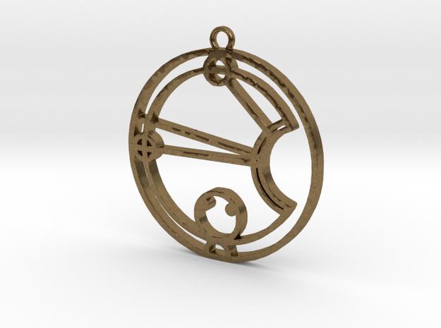 Kassie / Cassie - Necklace in Raw Bronze