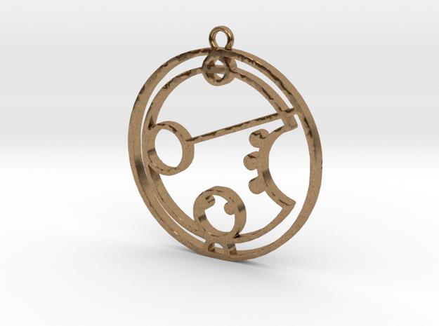Karen - Necklace in Raw Brass
