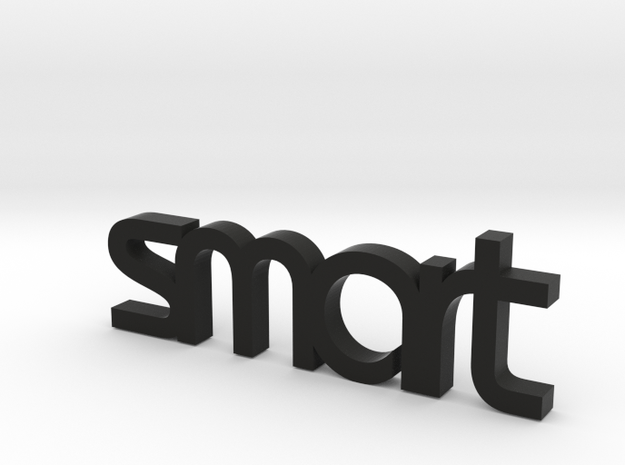 "smart car keychain ""smart"" in Black Natural Versatile Plastic"
