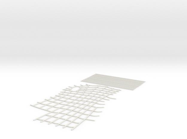 Spider-Man Right Arm-1 Webbing (fits kenlandrum pr in White Natural Versatile Plastic