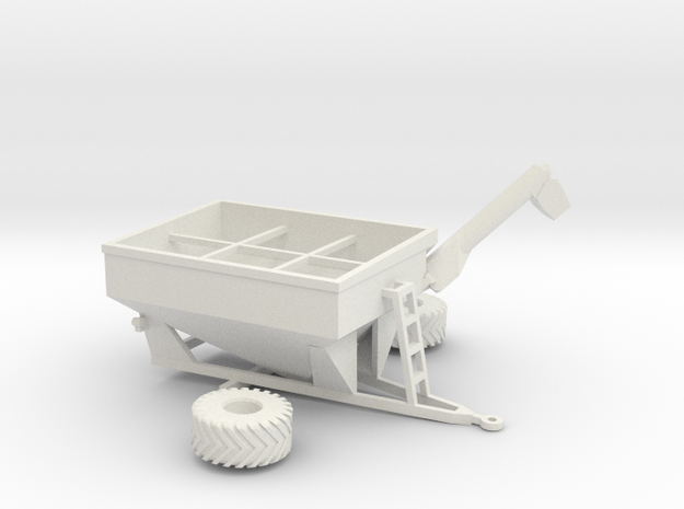 1:160/N-Scale Grain Cart 875 in White Natural Versatile Plastic