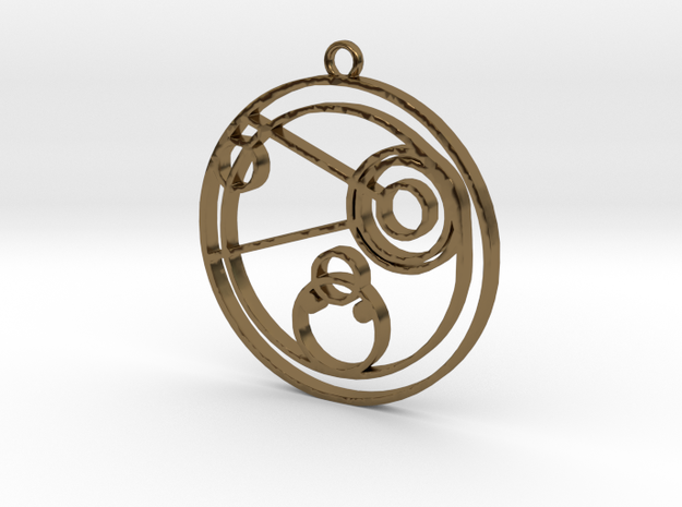 Connie - Necklace in Polished Bronze