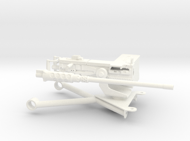 FA30007 0.50 Caliber M2 Browning 1/10 scale in White Processed Versatile Plastic