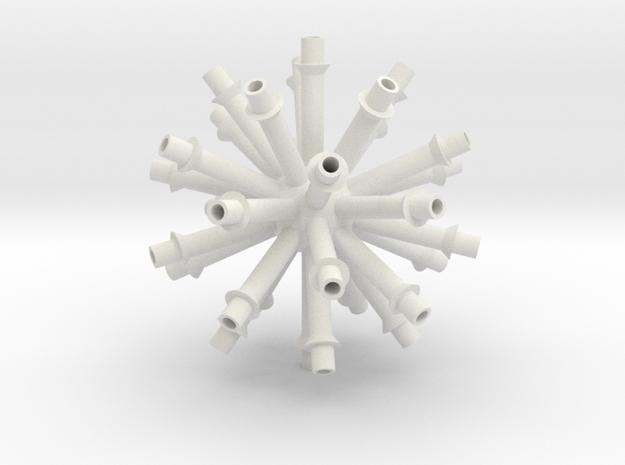 Gear Center V1 in White Strong & Flexible
