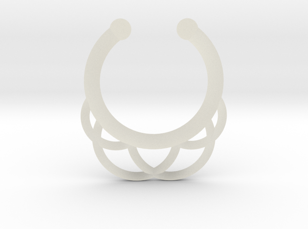 Faux Septum Ring - outer semicircles in Transparent Acrylic