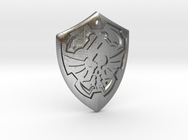Hylian Shield - Legend of Zelda in Natural Silver