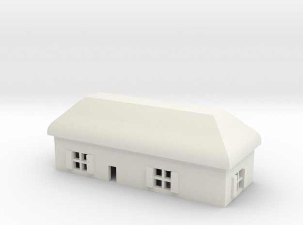 1/600 Village House 6 in White Natural Versatile Plastic