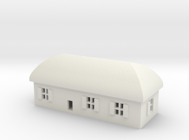 1/600 Village House 1 in White Natural Versatile Plastic