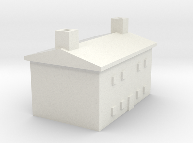 1/600 Farm House 2 in White Strong & Flexible