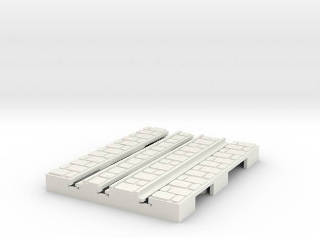 P-9-165st-short-straight-1a in White Natural Versatile Plastic