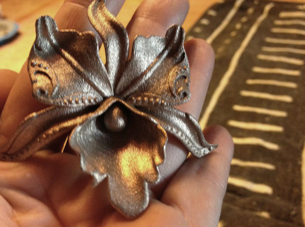 BlakOpal Steamy Orchid - curved for Top Hat in Polished Bronzed Silver Steel
