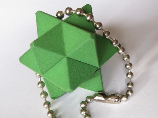 Orchid Keychain Puzzle in Green Strong & Flexible Polished