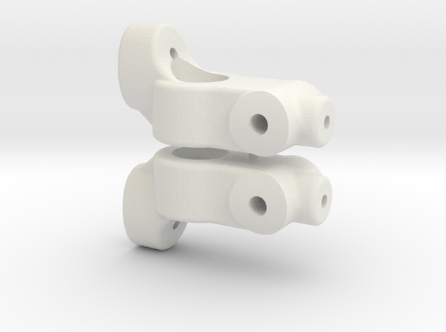 TC5 REAR HUB CARRIER - 1 DEGREE - INCH in White Natural Versatile Plastic