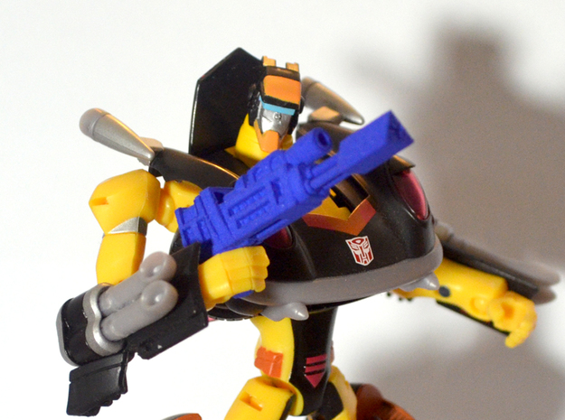 Autobot Jackpot's Heat Induced Photon Rifle in Blue Strong & Flexible Polished