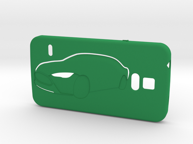 Galaxy S5 case (Tesla-touch) in Green Processed Versatile Plastic