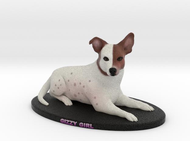 Custom Dog Figurine - Gizzy in Full Color Sandstone