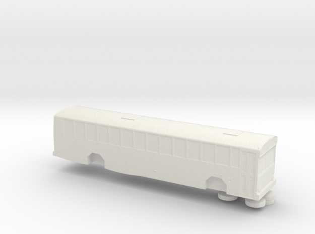 N scale 1:160 Gillig Phantom School Bus in White Strong & Flexible