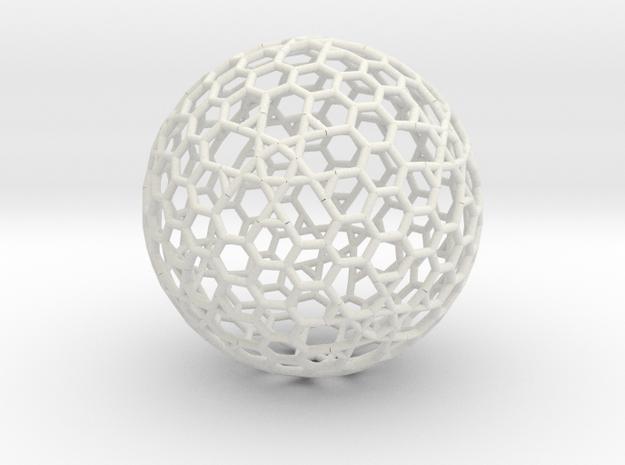 Cell Sphere 8 - Plato's Playball  in White Natural Versatile Plastic