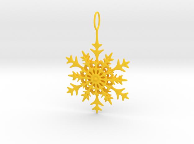 Christmas Snowflake in Yellow Processed Versatile Plastic