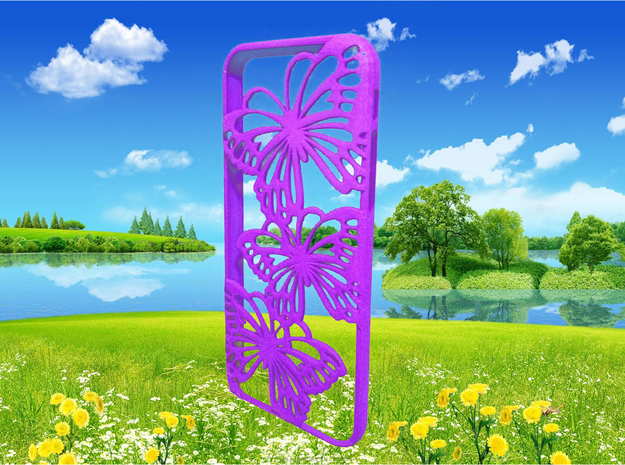 iPhone 6 case - butterfly in Purple Processed Versatile Plastic