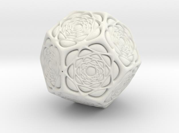 Christmas Tree Ornament #15 Smaller in White Natural Versatile Plastic