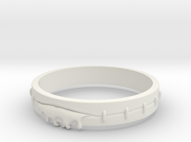 Bleeding Ring in White Natural Versatile Plastic