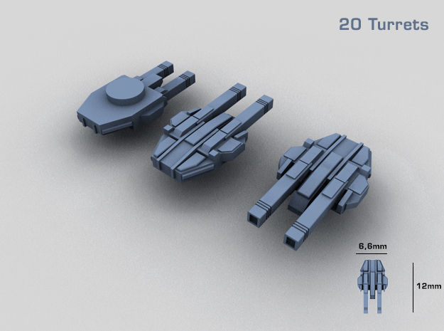 20 Starship twin turrets – MECHWORLD HOMEFLEET