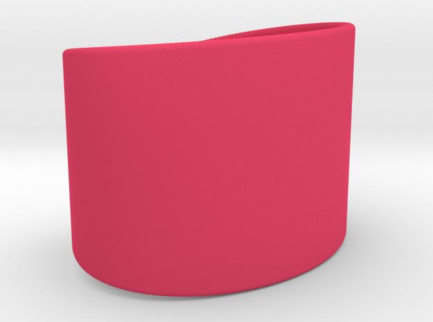 Wrist Cuff - simple curve in Pink Processed Versatile Plastic
