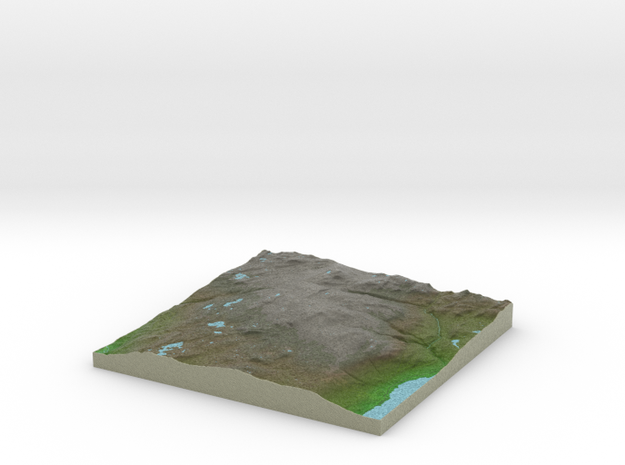 Terrafab generated model Sun Dec 14 2014 14:16:59  in Full Color Sandstone