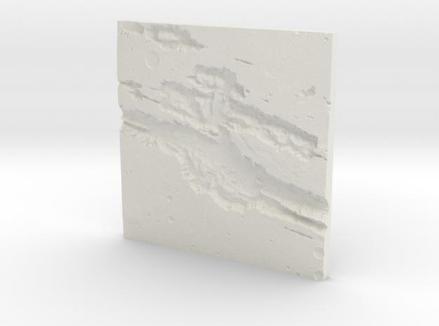 Mars Topographic map in White Natural Versatile Plastic