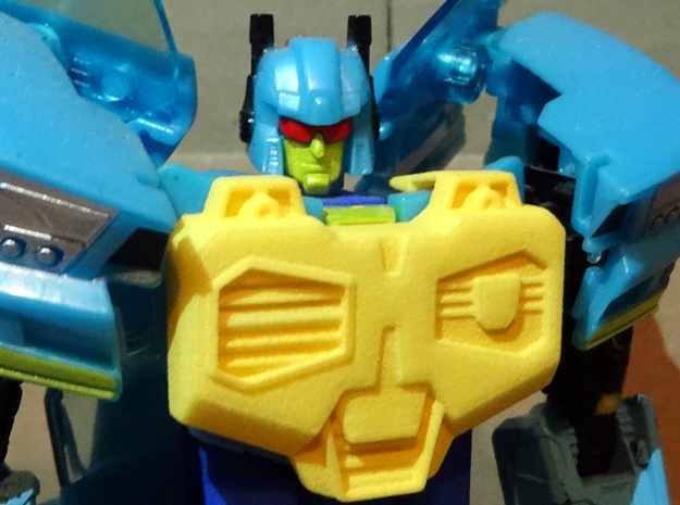 Gen. Nightbeat Upgrade Kit #5 - IDW Comics Chest in Yellow Strong & Flexible Polished