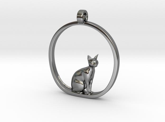 Cat v1 in Fine Detail Polished Silver