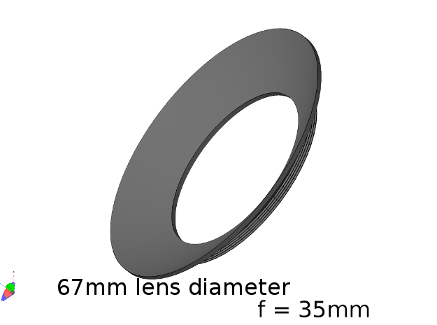 Lieberkühn Reflector 67mm lens diameter, f = 35mm in White Strong & Flexible