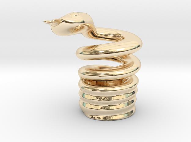 Snake Cigarette Stubber 3d printed Snake Cigarette Stubber in 14k gold