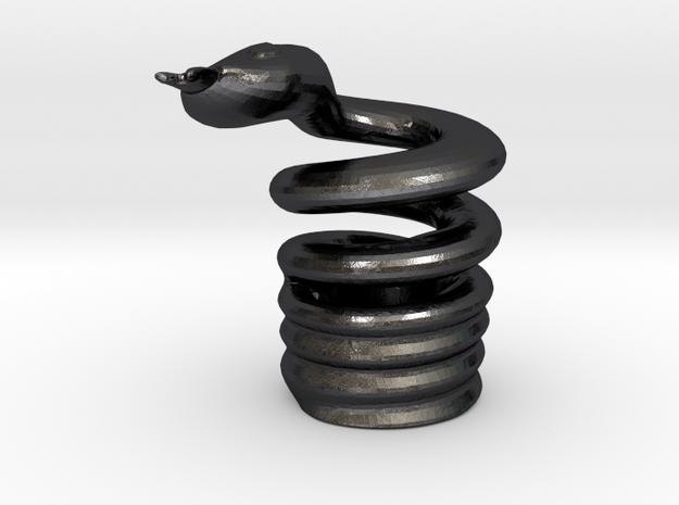 Snake Cigarette Stubber 3d printed Snake Cigarette Stubber in polished grey steel