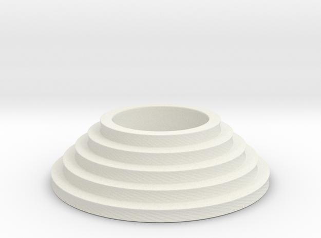 Circular stairs tealight in White Natural Versatile Plastic