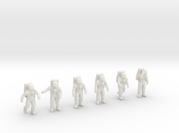 Apollo 11 Astronauts 1:48 in White Strong & Flexible