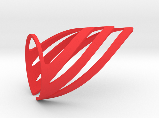 Chevron (Medium) in Red Strong & Flexible Polished