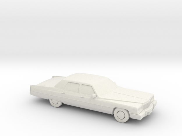 1/87 1975 Cadillac Fleetwood Brougham in White Natural Versatile Plastic