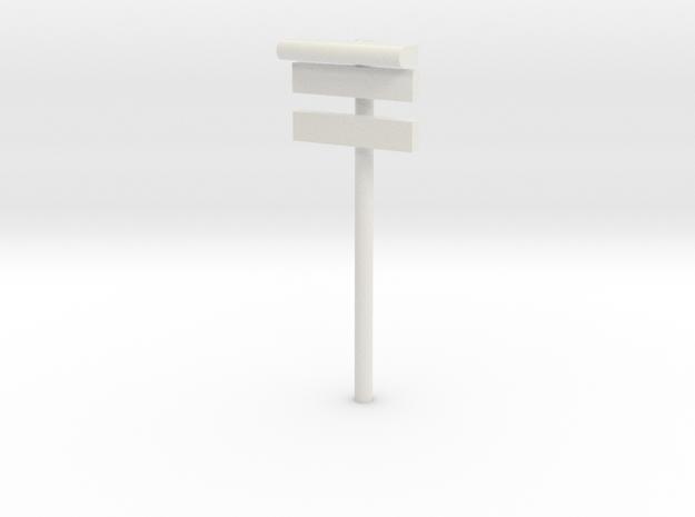 1/160 - DSB Stations lampe med stations skilt og u in White Natural Versatile Plastic