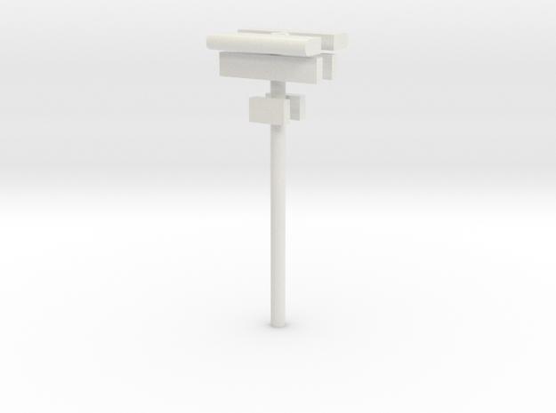 1/160 - DSB Stations lampe (dobbelt) med skilt og  in White Natural Versatile Plastic