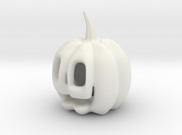 Jack-o'-lantern in White Natural Versatile Plastic