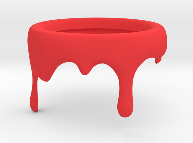 Paint Can - Pencil Holder Decoration in Red Strong & Flexible Polished